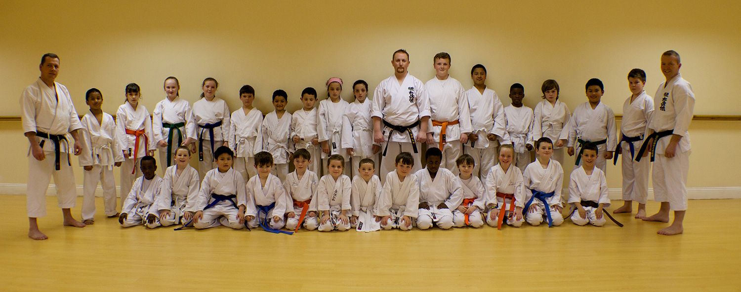 2014 Group Photo of Bushido Karate Club after the May 2014 Grading and Training Seminar under Kancho Nobuaki Kanazawa and Shinji Tanaka Sensei