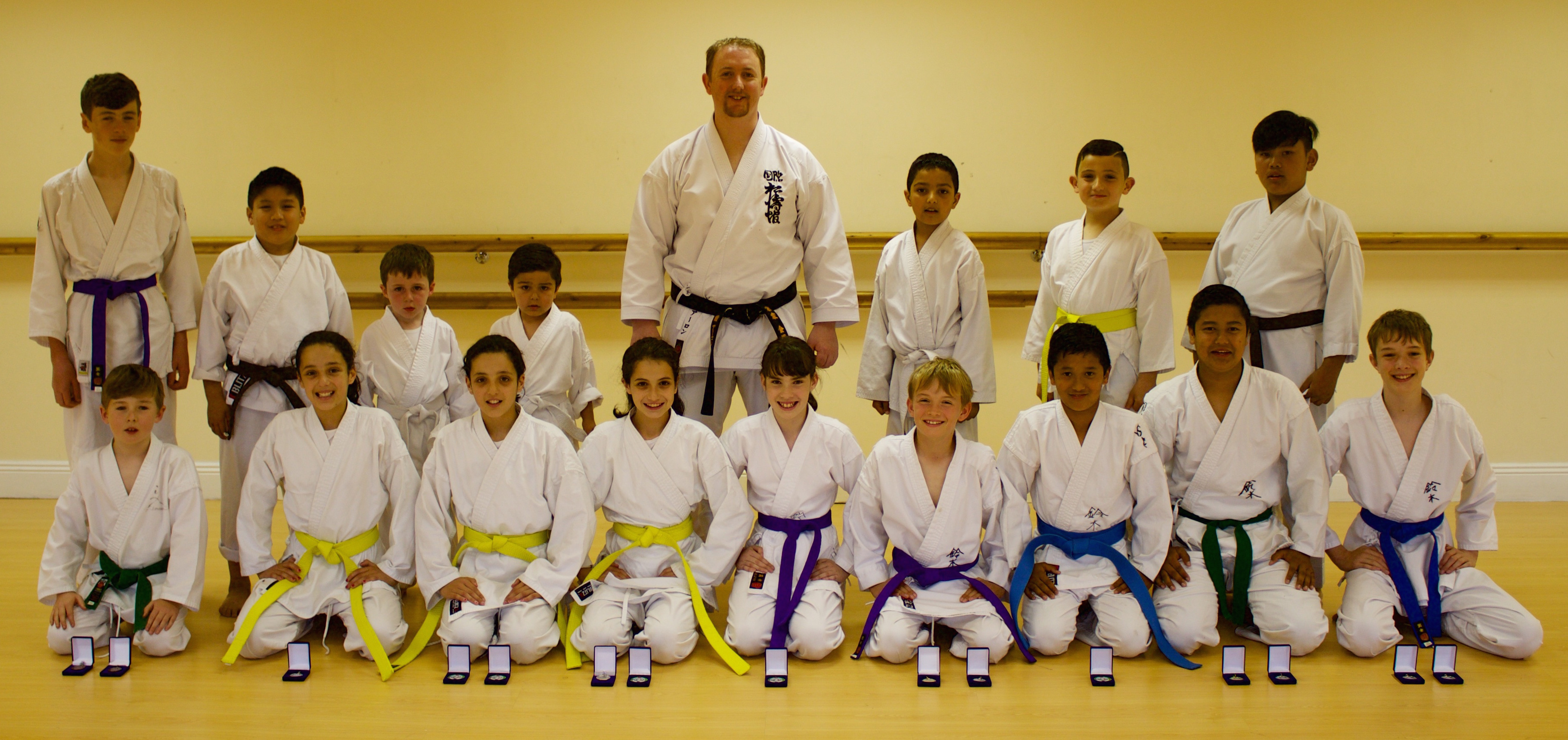 Members of Bushido Karate Club who competed at the SKIF Ireland Kanazawa Cup