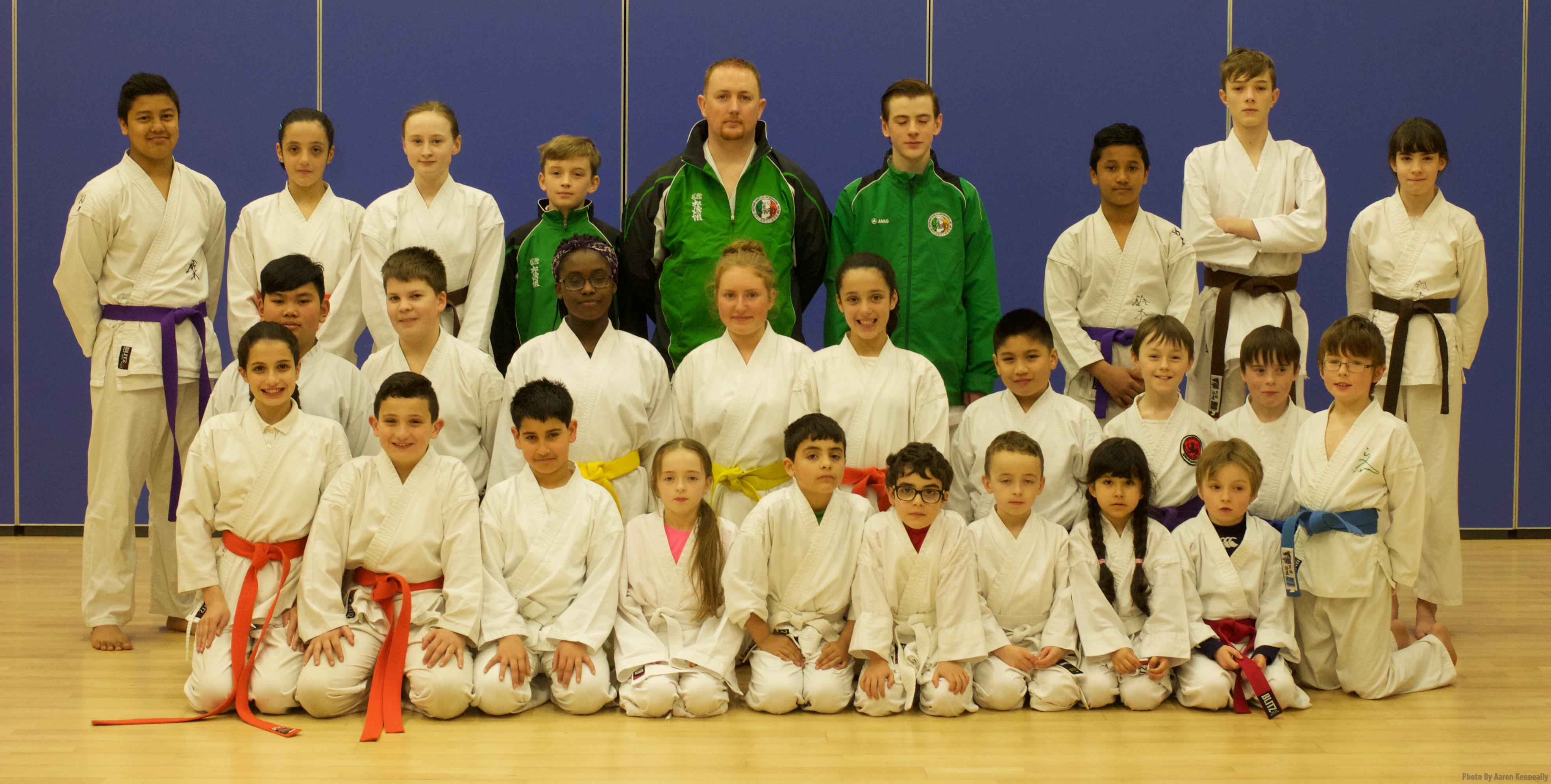 Bushido Karate Club members with Sensei Aaron Kenneally, Tom O Brien and Oisin O Sullivan who have been selected to represent SKIF Ireland at the SKIF World Championships in Jakarta, Indonesia in August 2016