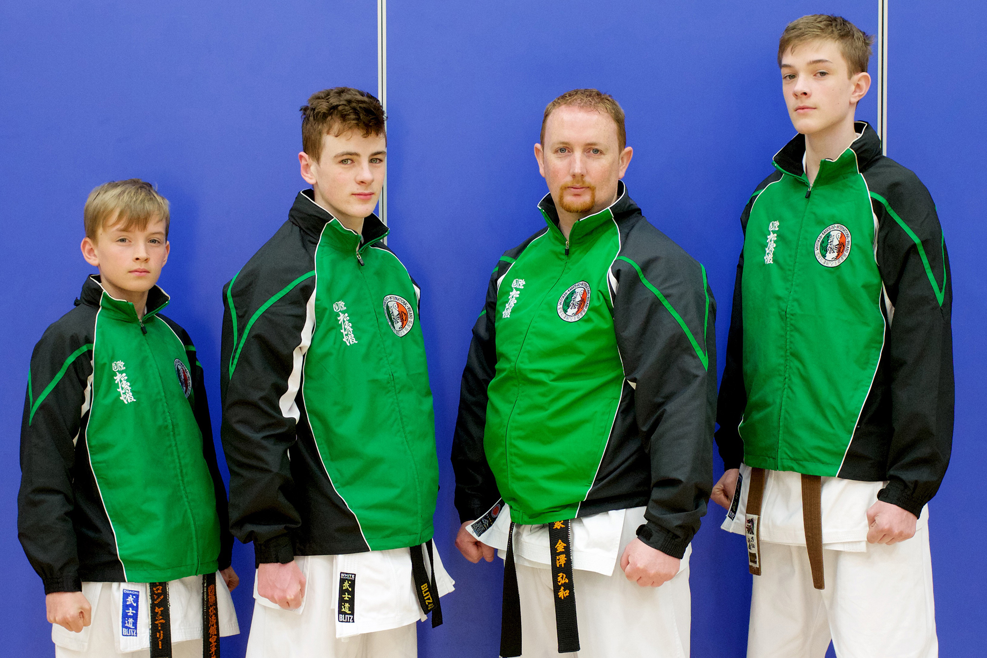 Bushido Karate Club members Joe O Brien, Oisin O Sullivan, Tom O Brien and Sensei Aaron Kenneally selected to represent SKIF Ireland at the SKIF European Championships in Czech Republic - May 2017