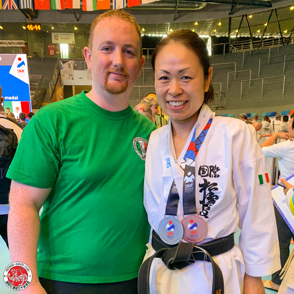Bushido Karate Club assistant instructor Sensei Yuka Evans wins Silver and Bronze at SKIF World Championships - Czech Republic 2019
