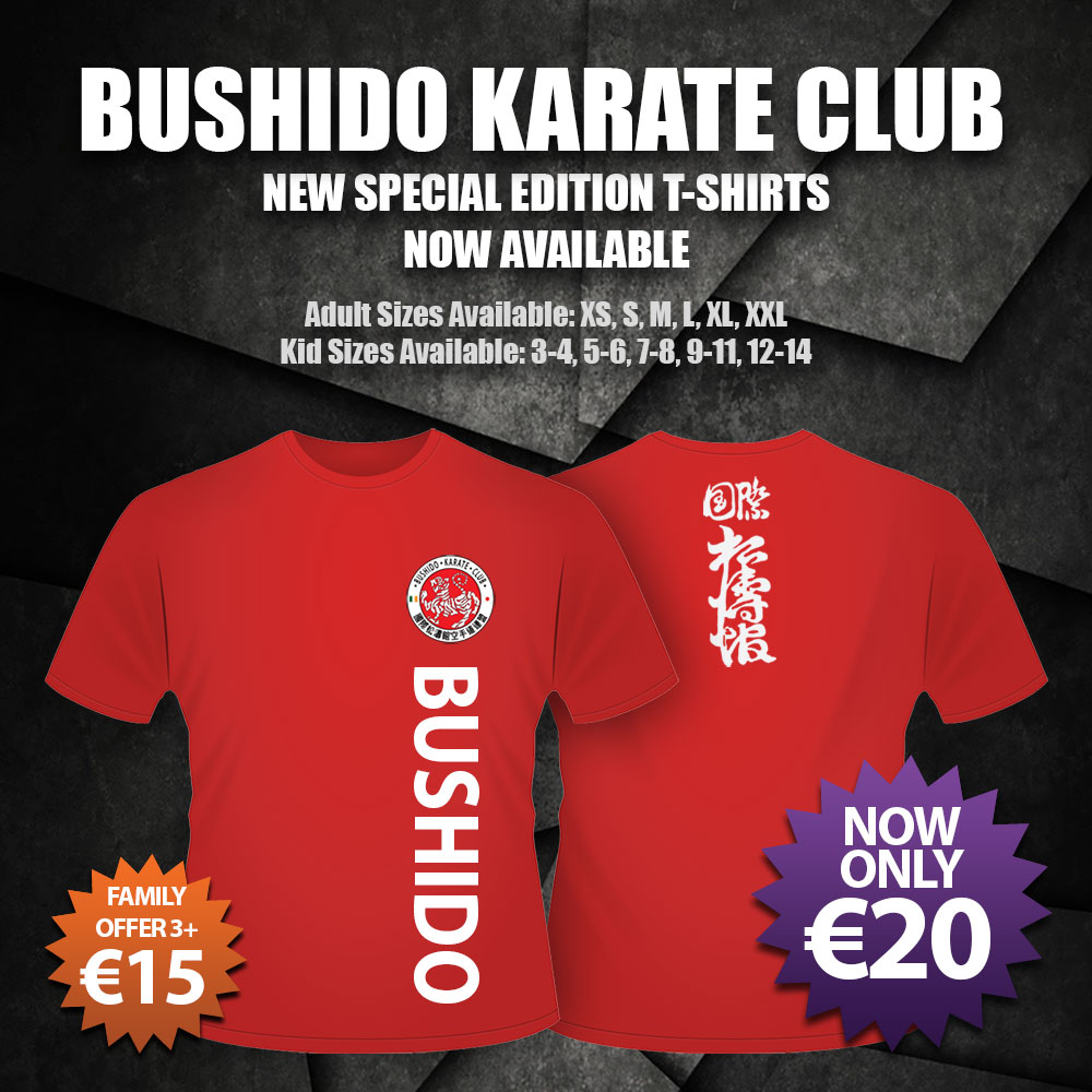 Bushido Karate Club T-Shirts now available
