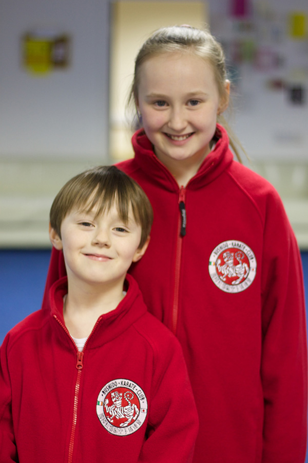 Matthew and Becky O Neill wearing the Bushido Karate Club Fleeces